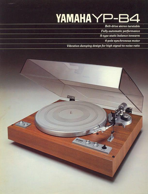 Yamaha YP-B4 turntable