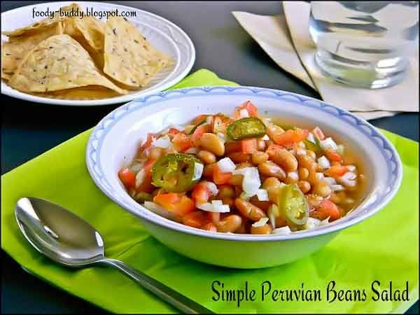 Simple Peruvian (Mayocoba) Beans Salad Recipe (Can be used with chick and black beans, too)