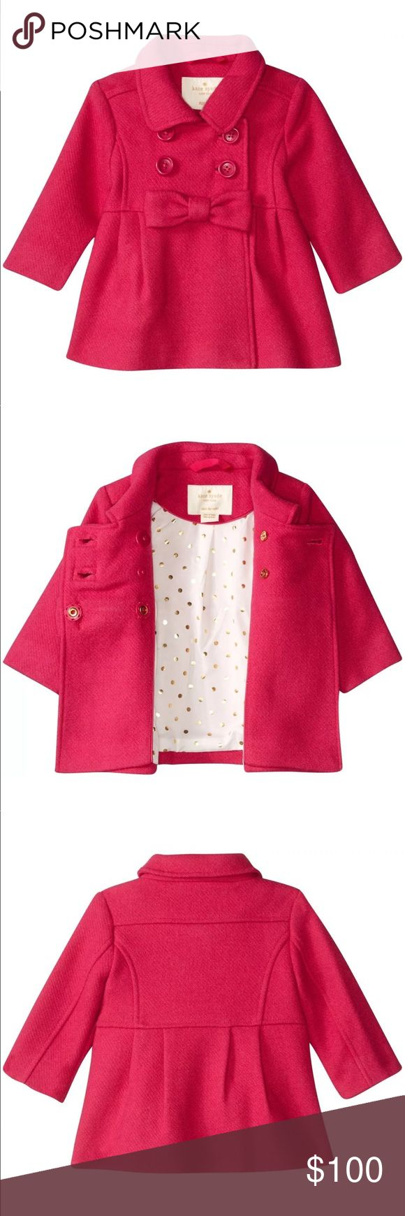 Kate Spade Pink Girls Peacoat Coat BRAND new with tags kate spade hot pink pea coat. Great looking and very stylish. NWT kate spade Jackets & Coats Pea Coats