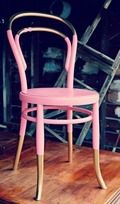 Vintage Dip Dyed Pink & Gold Bentwood Chair by To Beautify Designs