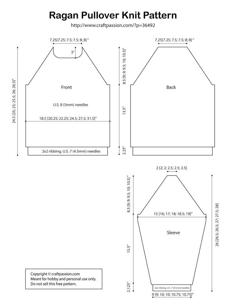 raglan pullover measurement