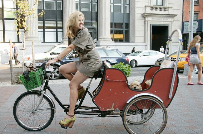 The fashion designer Lela Rose takes her custom-built tricycle and her one satisfied passenger, Stitch, to her studio.