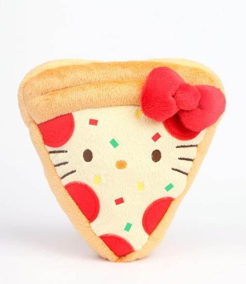 Yum yum: #HelloKitty reversible #pizza plush