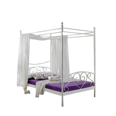 1000 id es sur le th me lits en fer blanc sur pinterest cadres de lit en fe - Lit baldaquin fer forge blanc ...