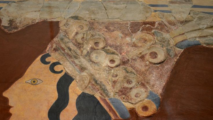 "Archaeological Museum of Heraklion: The ""Prince of the Lilies"", an emblematic figure of Minoan Crete, was part of a larger mural composition in high relief. ...."