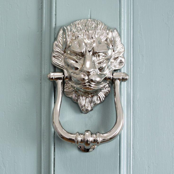 17 best images about front doors on pinterest door pulls - Door knocker nickel ...