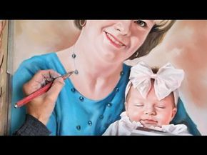 Pastel portrait, big size soft pastel portrait - YouTube
