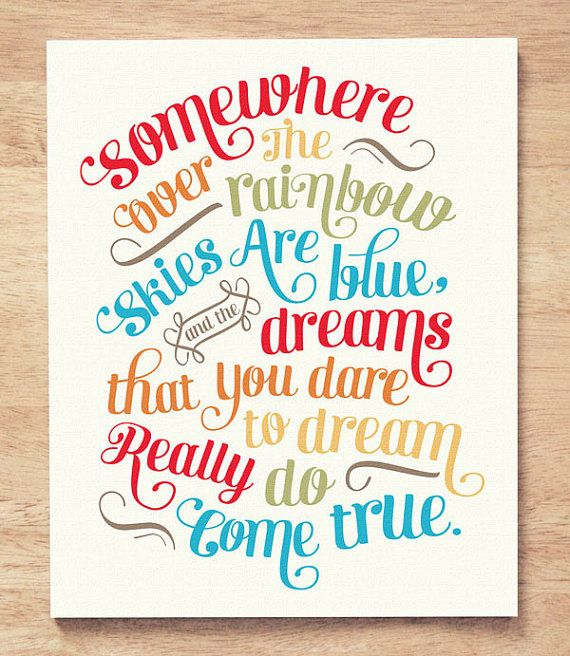 Design Quote: Somewhere Over the Rainbow, gorgeous wall art for your home