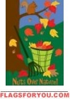 Applique - Nuts Over Nature House Flag