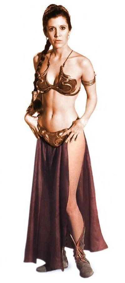 carrie fisher princess leia bikini