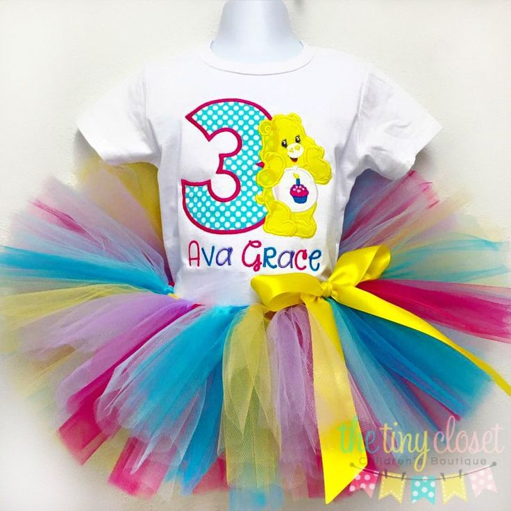 This adorable birthday set includes one shirt or onesie with the birthday design, your child's age and your child's name included! Paired with a very full tutu & ribbon bow embellishment! We use Kavio