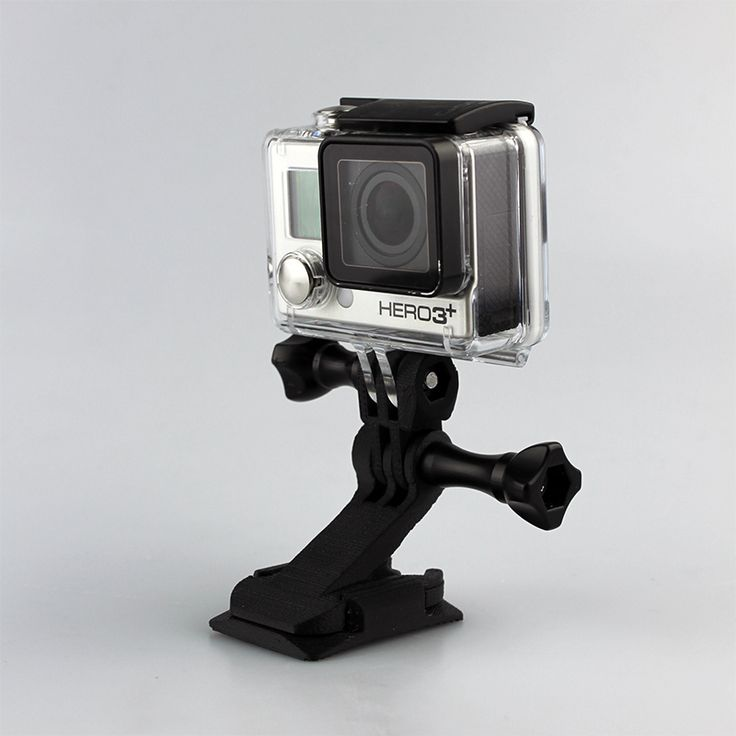 Download GoPro Helmet mount by Michele Fiorese - MyMiniFactory.com