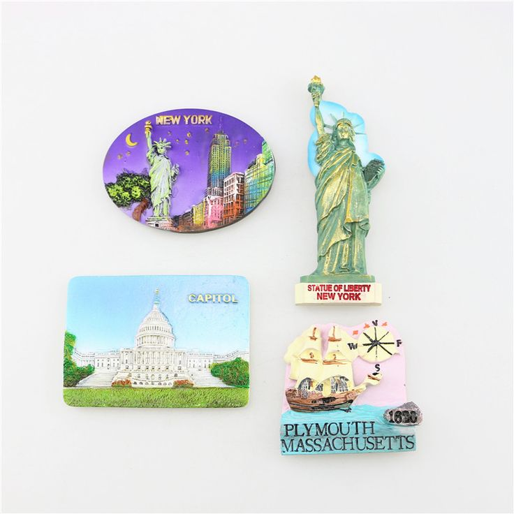Free Shipping, Quality Resin Refrigerator Magnet, Price for A Set of 4 Pieces, Fridge Sticker, USA, UK, CHINA, GREECE, BELGIUM