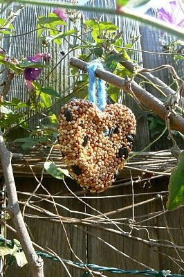 birdseed cakes: Gift, Birdseed Ornament, Cakes Birds, Birdseed Feeders, Valentine, Birdseed Cakes, Crafts, Feeders Cakes