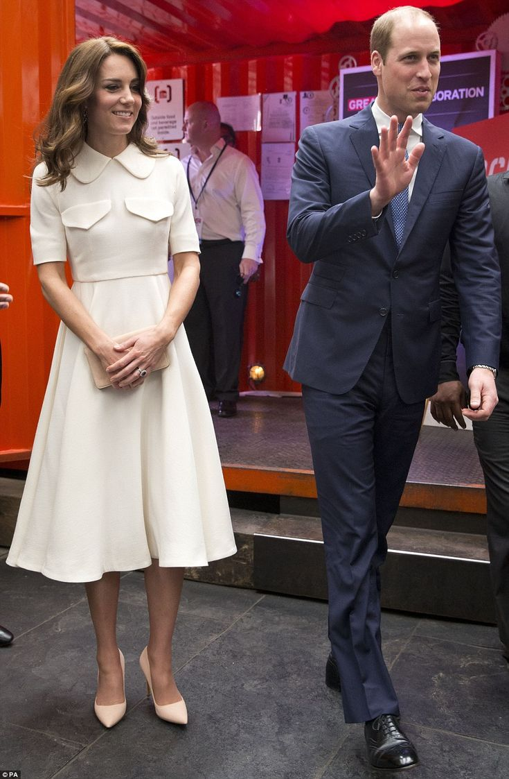 The Duke and Duchess of Cambridge arrive at an event to meetaspiring young entrepreneurs ...