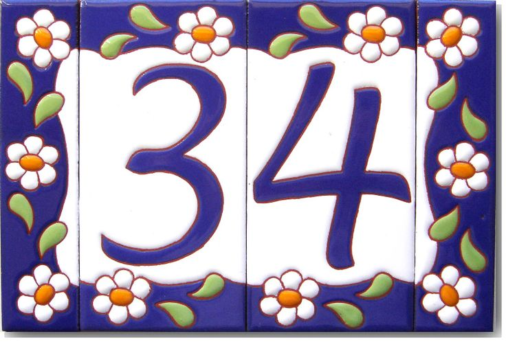 Azulejos Números p/casa                                                                                                                                                     Más