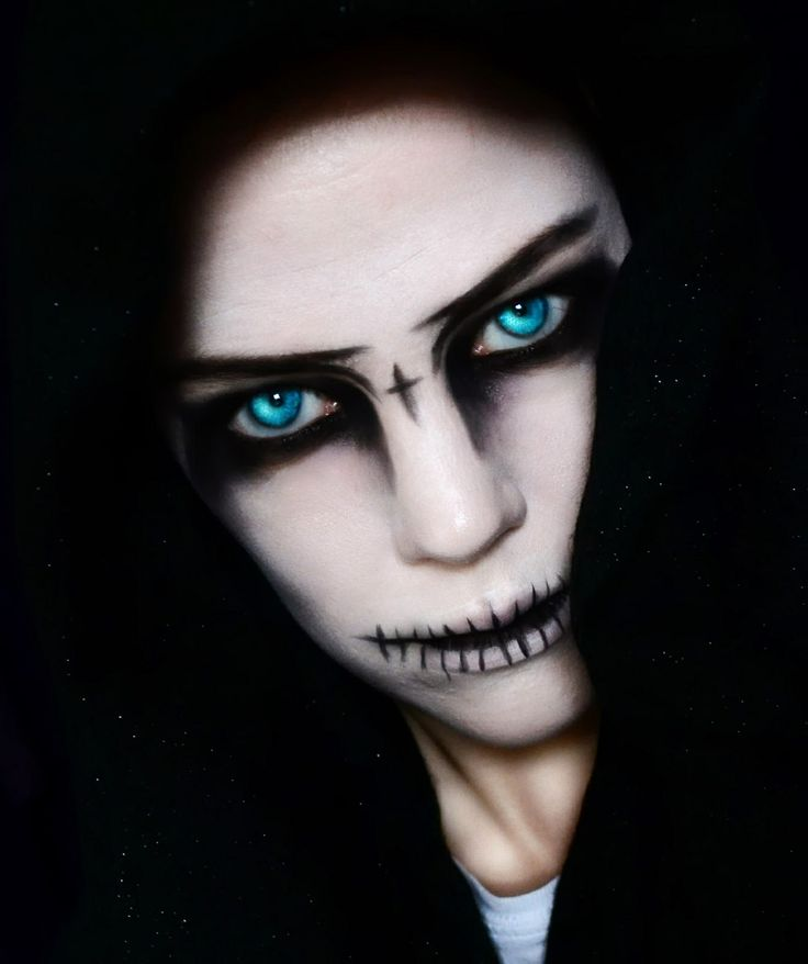 Grim Reaper Face Paint Kids