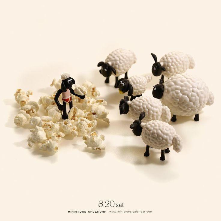 """. 8.20 sat """"Corn the Sheep"""" . ひつじのコーン . #ひつじのショーン展 #松屋銀座で8月22日まで開催中ですよ #ShauntheSheep ."""