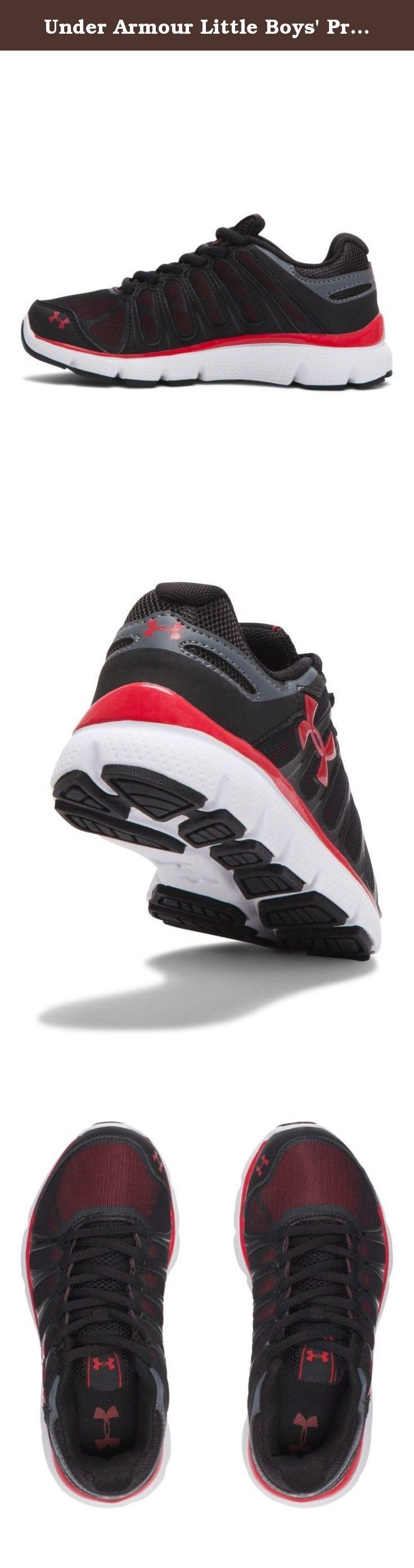 Under Armour Little Boys' Pre-School UA Pulse II Shoes 1 Black.