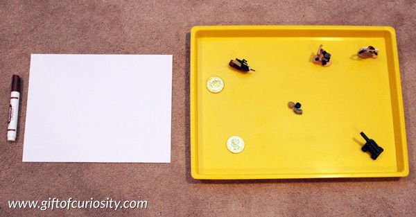 Pirate Montessori activities: Pirate mapping activity || Gift of Curiosity