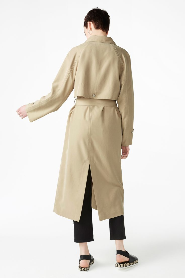 Monki Image 4 of Trench coat in Beige