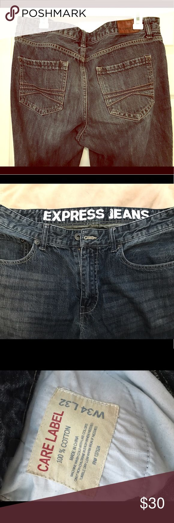 Express men's straight slim jeans 34x32 Great pair of men's jeans from express. Excellent condition. Size 34 waist 32 length. Express Jeans Straight