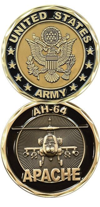 US Army AH-64 Apache Army Challenge Coin – Star Spangled 1776