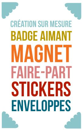 21 best Création faire part magnet images on Pinterest
