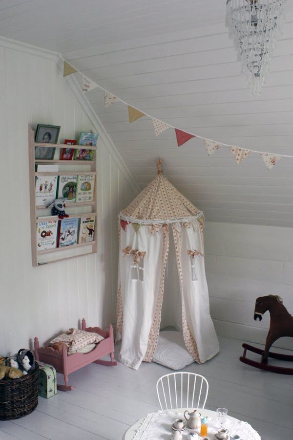 Kids Room: Cool Kids Rooms With Play Tents On The Corner Also Creative  Floating Bookcase And Pink Small Bench Also White Chairs And Crystal  Chandeliers ...