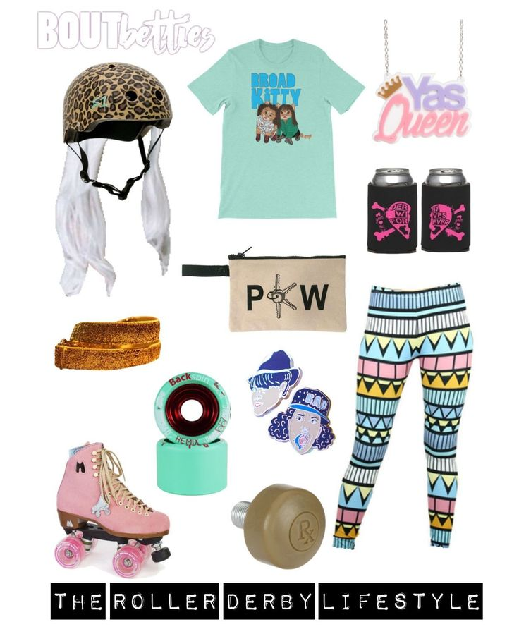 Where all my Queens at?! The #rollerderbylifestyle inspirational mood board by Bout Betties on Polyvore. Broad City FINALLY returns on Sept 13th and we're beyond stoked.  #friyayfashion featuring Bruised Skate Stuff Derby Warehouse Only Leggings Square Cat Skates Punelope Cruz Derby Warehouse Roller Skate Nation Vanilla Wheels Sure Grip Urban Cricket NYC Dress Derby Devaskation S1 Helmets Moxi Skates Amy Blue Illustration Sugar and Vice Designs.We wanna know which episode was your fave so…