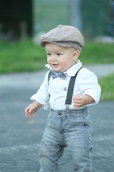 Suspenders!  Such a cute little outfit!