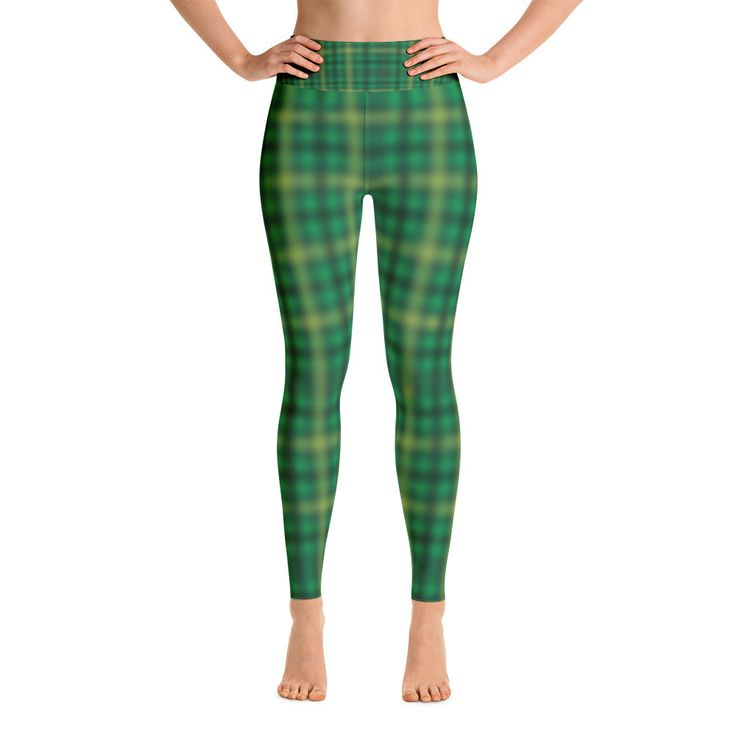 Green Irish Tartan Yoga Leggings