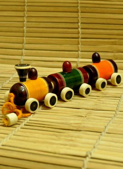 Handmade organic wooden toys from Channapatna