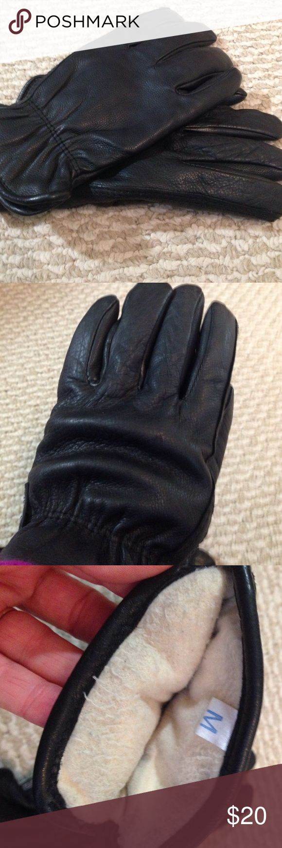 Long black leather gloves prices - Black Thinsulate And Leather Gloves