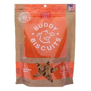 Cloud Star 6/20 oz. Original Soft & Chewy Buddy Biscuits Dog Treats - Peanut Butter Value Bag