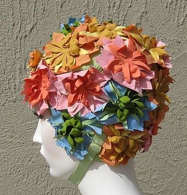 rubber swim caps...1960's - my mom wore these because she went weekly to the beauty parlor to have her hair shampoo, tease, hair net spray till next visit.