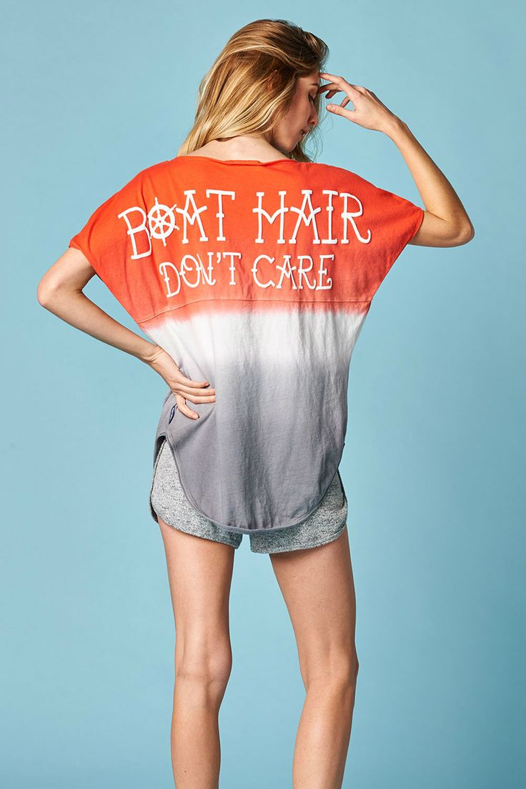 Boat Hair Don'T Care Women's Ombre Cutt-of Spirit Jersey