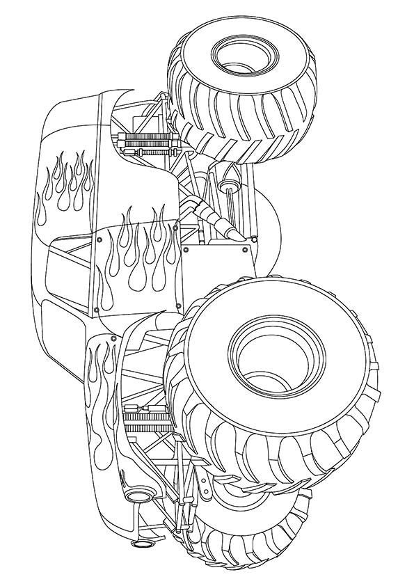 maximumdestruction colour page truck coloring pages