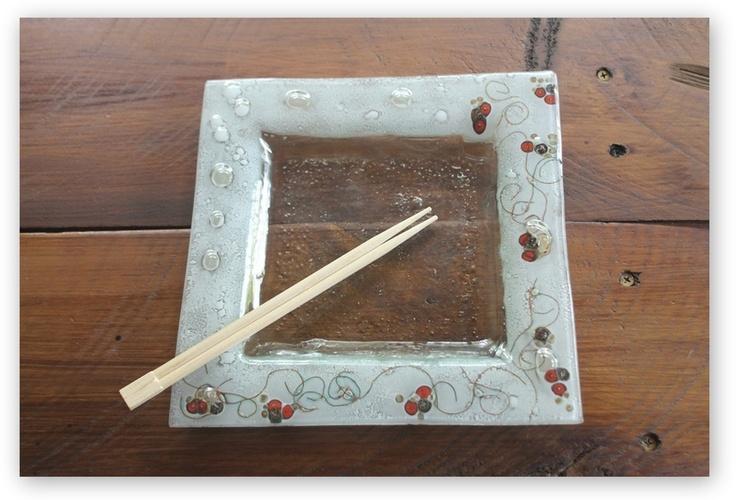 Platos en vitrofusion (decoracion, bazar, apto para alimentos) - Fused Glass