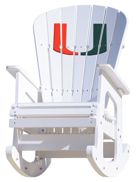 University of Miami Hurricanes Rocking Chair  Rocking chairs, Miami ...