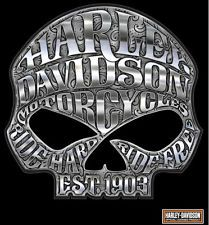 * XL * HARLEY DAVIDSON MOTORCYCLE WILLIE G SKULL CHROME DECAL MADE IN THE USA