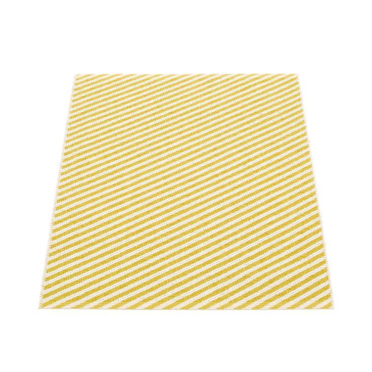 Will Rug 70x90cm, Mustard/Vanilla, Pappelina