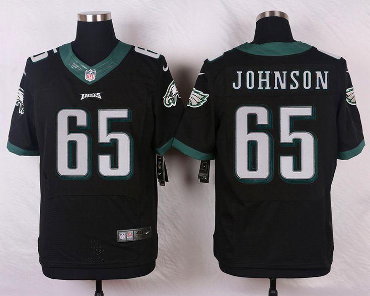 Men's NFL Philadelphia Eagles #65 Johnson Black Elite Jersey