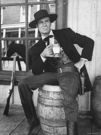 Hugh O'Brien as Wyatt Earp a 50's TV western.