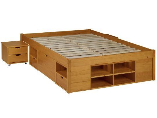 Para quem não tem muito espaço, cama com compartimentos