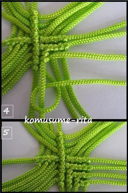心の形のように編みます。 ふちに糸を加えます。  にほんブログ村【小娘の手芸】