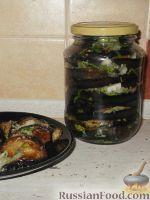 Фото к рецепту: Жареные баклажаны с чесноком