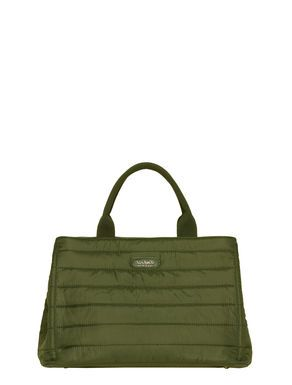 Nylon matelassé shopping bag
