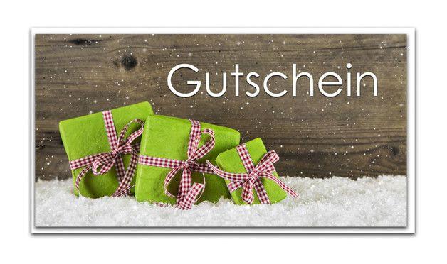 Deko und Accessoires für Weihnachten: 3 Stück Weihnachtsgutschein in grün rot; Din lang made by Logbuch-Verlag - mit Herz - made in Bavaria via DaWanda.com