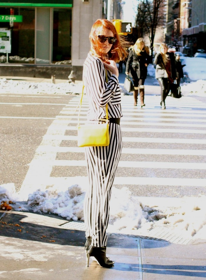 black and white striped celine bag